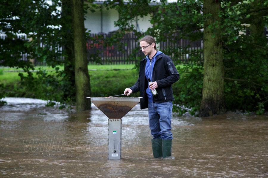 Braten im Hochwasser